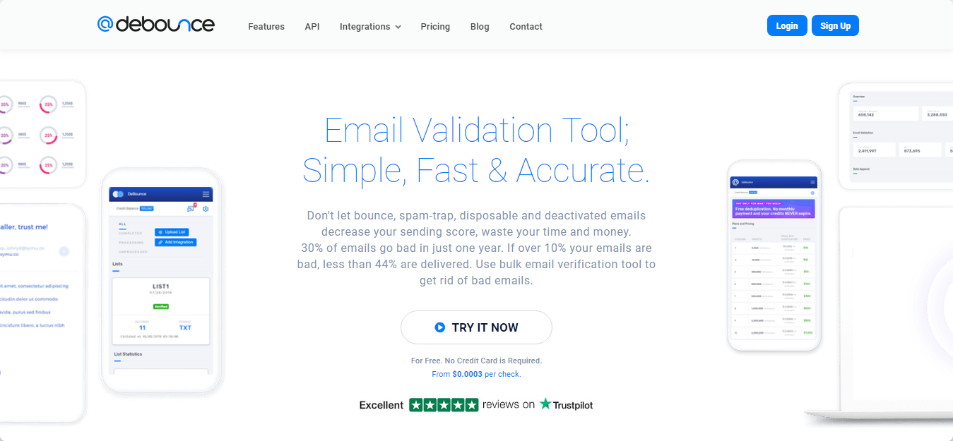 Image result for DeBounce email verification service
