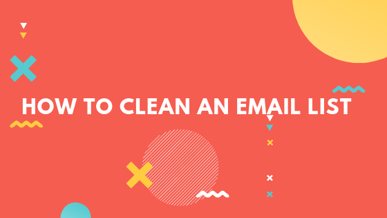 How to clean an email list